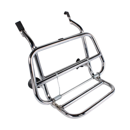 Cuppini Chrome Front Rack; Vespa Primavera and Sprint
