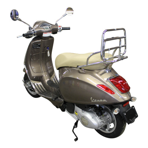 Cuppini Chrome Folding Rear Rack; Vespa Primavera and Sprint