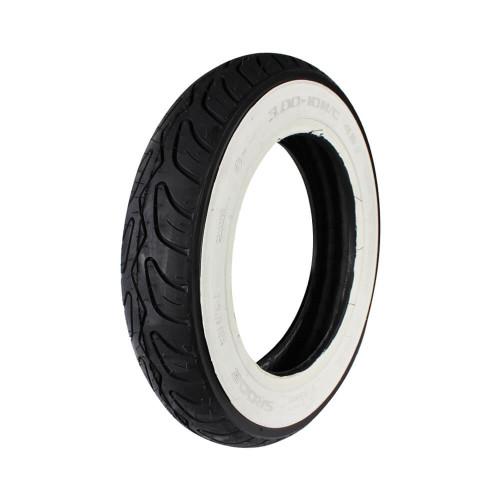 Prima Tire (Whitewall, 3.0 x 10); Genuine Bud 50, Buddy Kick