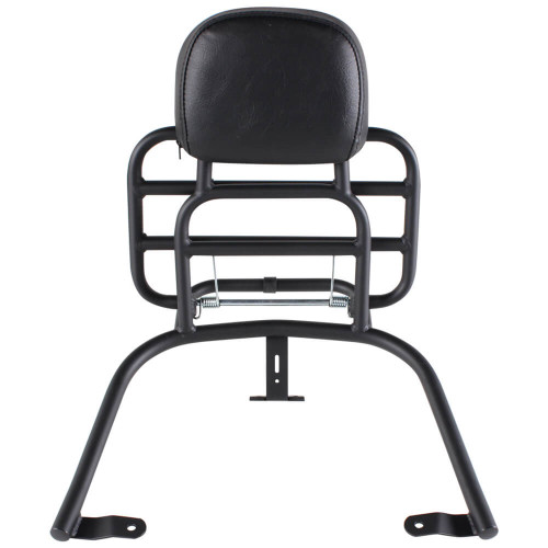 Prima Rear Rack (Backrest, Black); Vespa GTS