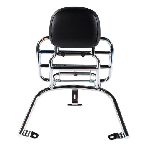 Prima Rear Rack (Backrest,Chome); Vespa LX50 and 150