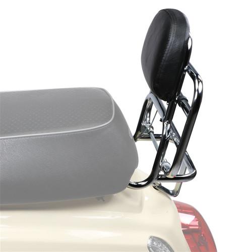 Prima Rear Rack (Backrest,Chrome); Buddy Kick