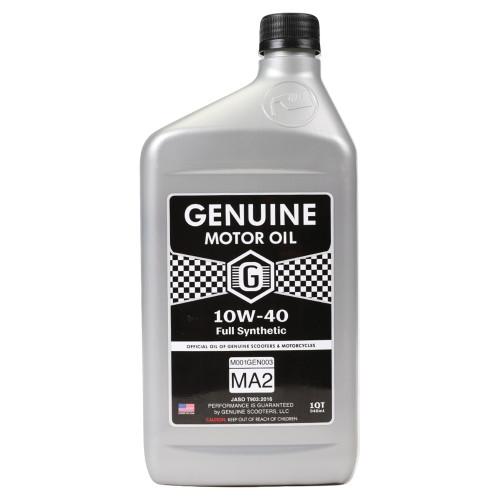 Genuine 4T Motor Oil (10W40, Full Synthetic MA-2); 1 Quart