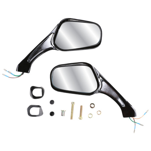 Blue Line Sport Mirrors (Black, 8mm); Standard Thread