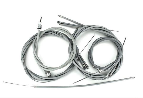 Lambretta S1/2 Teflon Lined Cable Set