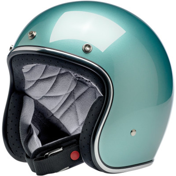 Biltwell Bonanza Helmet in Metallic Sea Foam