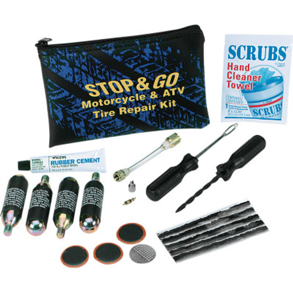 Tube and Tubeless Roadside Tire Repair Kit