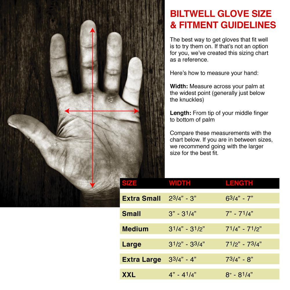 Biltwell Glove Sizing