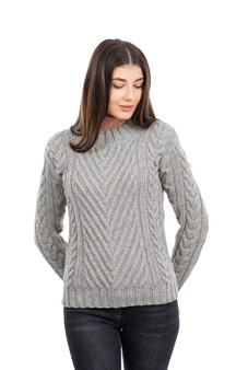 Ladies Ribbed Cable Sweater