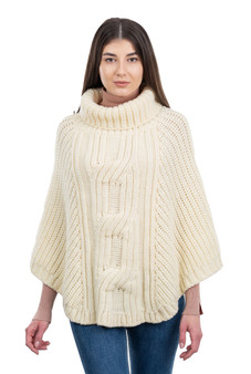 Cable Cowlneck Poncho
