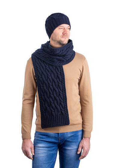 Cable Knit Wool Hat
