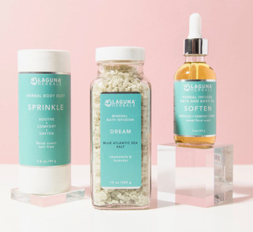 Organic Holiday bath and body gift set.