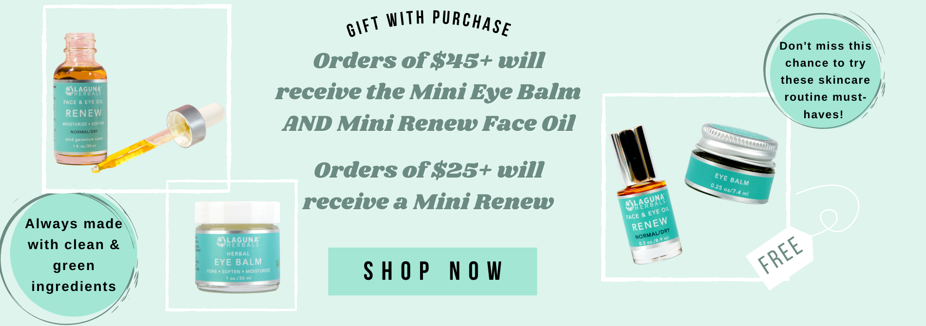 Organic Skincare Gift with Purchase