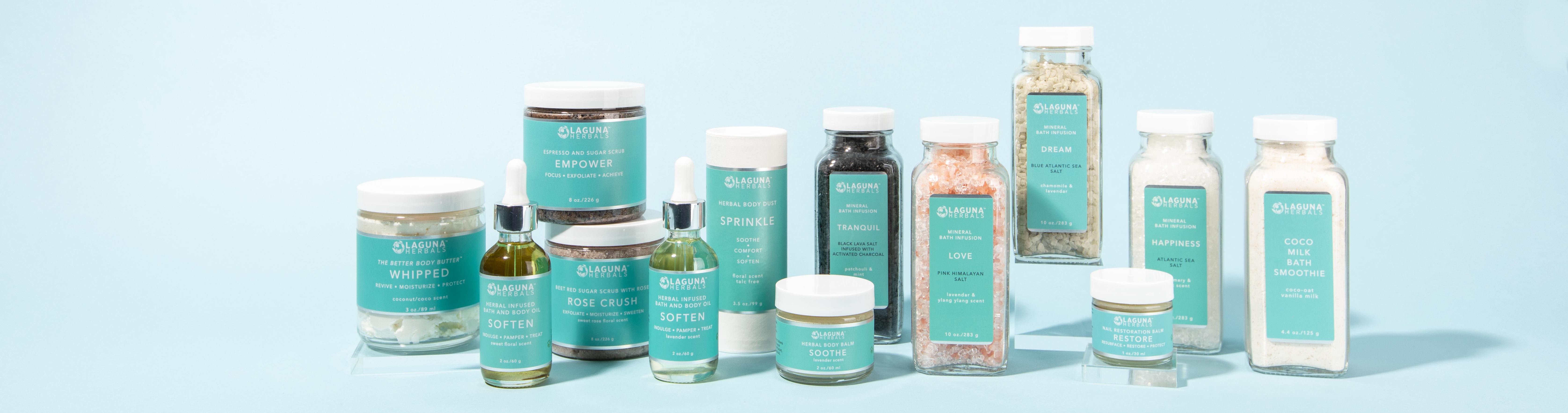 body scrub sunscreen cuticle oil talc-free powder jasmine rose lavender vaseline alternative moisturizer organic body lotion