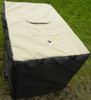 Solar custom crate cover - Optional waterproof 100% polyester top with accessory pocket.