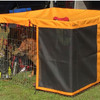 Exercise pen top cover with matching solar side.