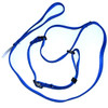"""Martingale collar on a 36"""" leash makes the ideal agility ring leash."""