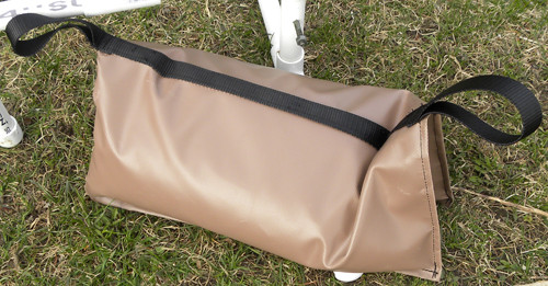 Agility equipment weight bag - Tube design lets you lay it flat, fold over equipment or stand upright.