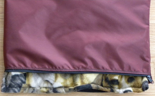 Water-repellent dog bed covers fit standard crate pads and beds.