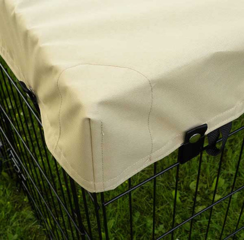 Exercise pen top cover - chafing patch in corners protects cover against wear.