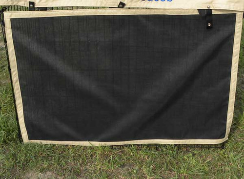 Dog exercise pen solar side.