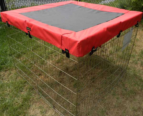 Made in Canada exercise pen solar top cover