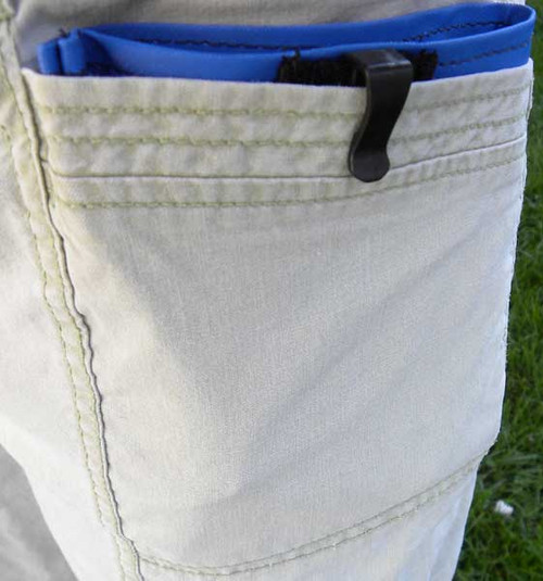 Hidden pocket liner treat bag - Capri are square to fit capris or square pockets often found on winter coats.