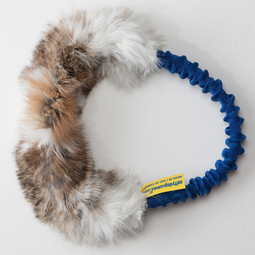 Circular non-toxic rabbit fur dog toy