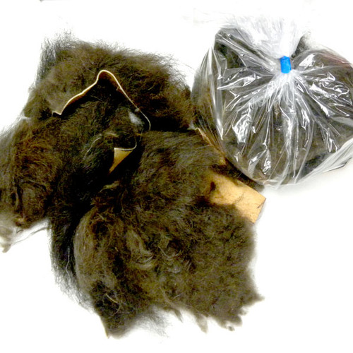 Organic buffalo real fur scraps - for flirt poles, making small dog toys, cat toys, crafts and more.