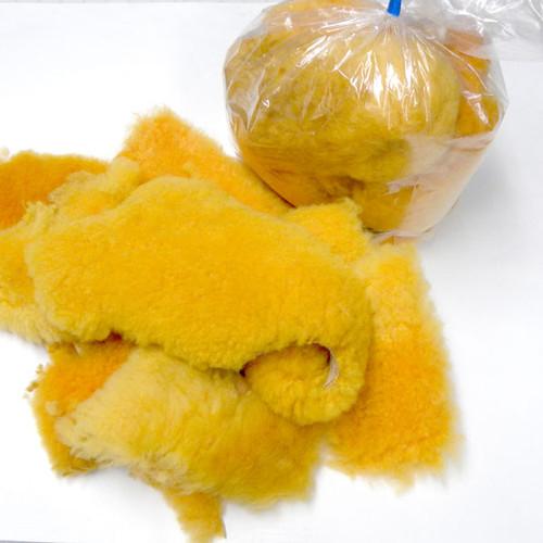 Non-toxic sheepskin real fur scraps - for flirt poles, making small dog toys, cat toys, crafts and more.