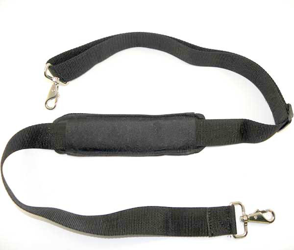 Padded adjustable shoulder strap.