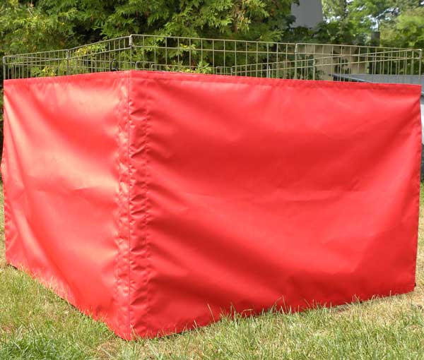 Dog exercise pen side screen - Double wide side made of marine-grade PU coated polyester is waterproof, mildew resistant and guaranteed not to fade.Made in Canada