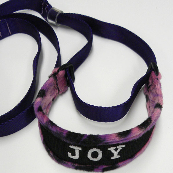 Purple camo microsuede collar.
