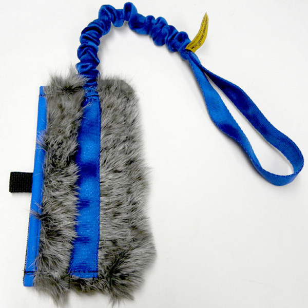 Train your dog to tug with this mesh treat bag with waterproof liner and all-natural rabbit or for Earthdog training.