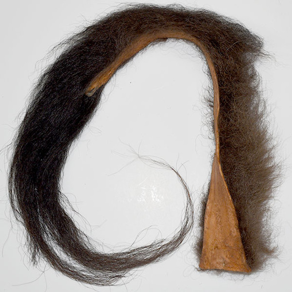 Non-toxic buffalo tail from Canadian organic buffalo tail is ideal for attaching to flirt poles, or for a long toy or craft project.