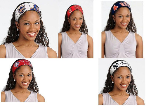 MLB JERSEY FANBANDS ASSORTED TEAMS CHOOSE YOUR TEAM HEAD BAND FANBAND
