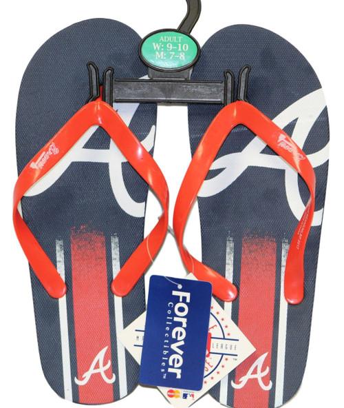 Atlanta Braves Men's Big Logo Gradient Unisex Beach Flip Flop Sandals