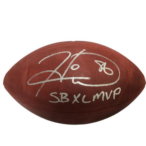 """Hines Ward Signed NFL Duke Football w/""""SB XL MVP"""" Insc. with COA"""