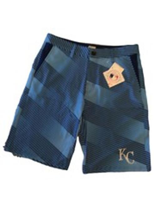 MLB Mens Diagonal Stripe Walking Shorts Kansas City Royals