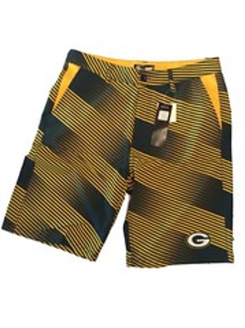 NFL Mens Diagonal Stripe Walking Shorts Green Bay Packers