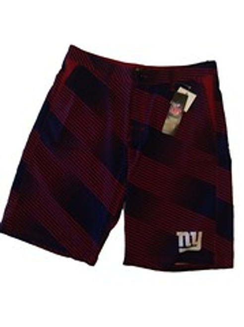 NFL Mens Diagonal Stripe Walking Shorts New York Giants