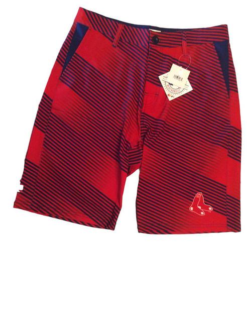MLB Mens Diagonal Stripe Walking Shorts Boston Red Sox