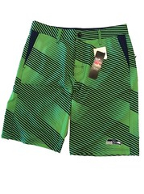 NFL Mens Diagonal Stripe Walking Shorts Seattle Seahawks