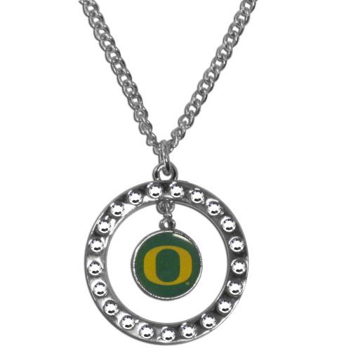 Officially Licensed NCAA Team Rhinestone Necklace Oregon Ducks