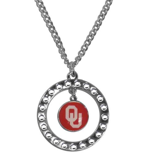 Officially Licensed NCAA Team Rhinestone Necklace Oklahoma Sooners