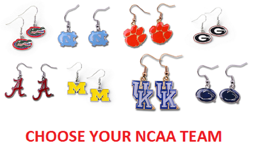 Officially Licensed NCAA Team Dangle Earrings - Pick Your Team