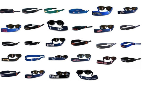 MLB Neoprene Sunglass Strap Holder NEW Choose Your Team Logo