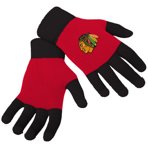 Officially Licensed NHL Knit Colorblock Gloves - Choose Your Team