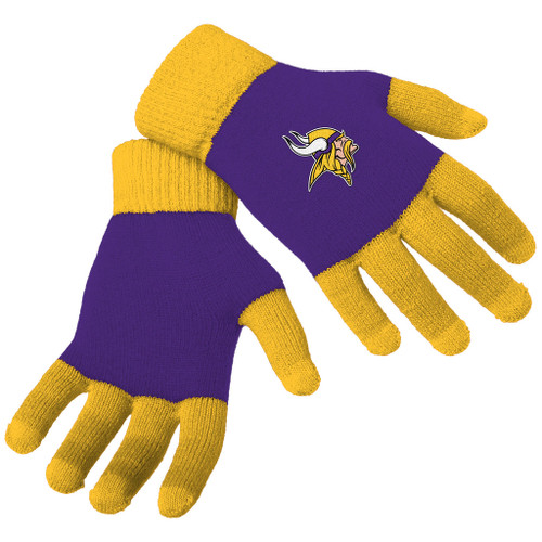 Officially Licensed NFL Knit Colorblock Gloves - Choose Your Team
