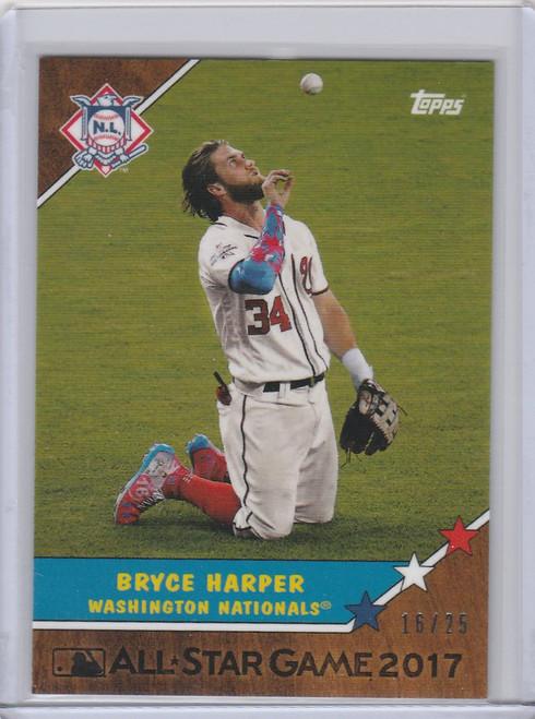 2017 Topps On Demand All Star #4W Bryce Harper Washington Nationals 16/25